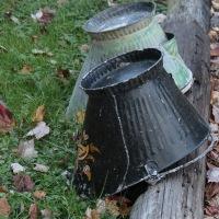 two coal buckets